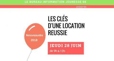 Affiche Cles location Réussie Perpignan 28 juin 2018