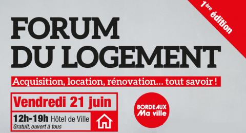 Forum du logement Bordeaux 21 juin 2019