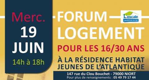 Forum logement Niort 19 juin 2019