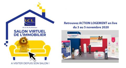 Action Logement, partenaire du salon immobilier virtuel organisé par LCL du 3 au 5 novembre