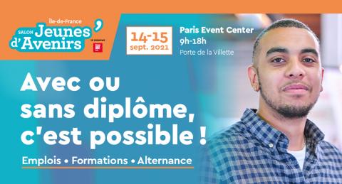 Ile-de-France : Retrouvez Action Logement au salon Jeunes d'Avenirs les 14 et 15 septembre 2021 à Paris