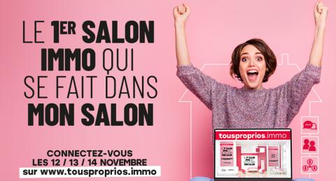 Hauts-de-France: tousproprios.immo, 1er salon de l'immobilier virtuel  du 12 au 14 novembre
