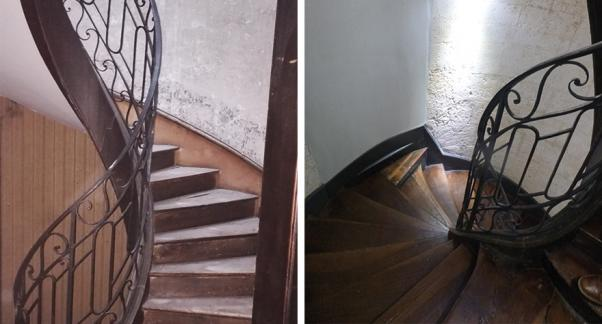 Réhabilitation d'un immeuble en milieu protégé - escaliers