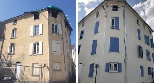 Avant / Après façade des logements