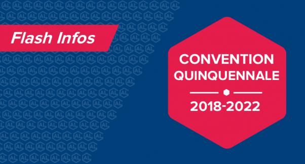 Convention quinquennale 2018-2022
