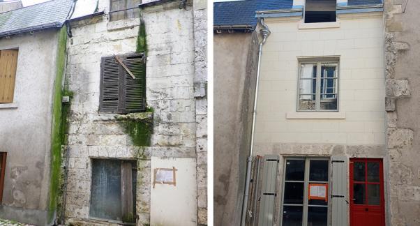 Blois : Acquisition amélioration d'une maison de ville, maîtrise d'ouvrage d'insertion. Soliha - Crédit : Soliha