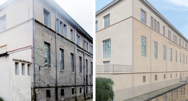 Montbrison : Implantation d'un foyer jeunes travailleurs dans l'ancien hôpital. Ville de Montbrison - Crédit : Fabre Speller Architecte
