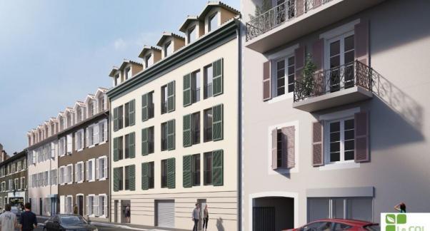 Opération Amassade, un projet d'habitat participatif en accession sociale en plein cœur de ville - façade
