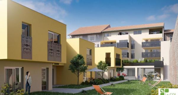 Opération Amassade, un projet d'habitat participatif en accession sociale en plein cœur de ville - cour