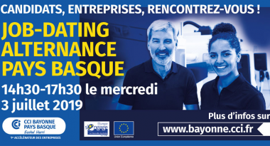 Job dating Alternance Bayonne le 3 juillet 2019