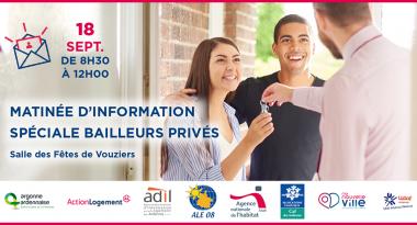 Grand Est : matinée d'information à destination des bailleurs privés ardennais à Vouziers le 18/09
